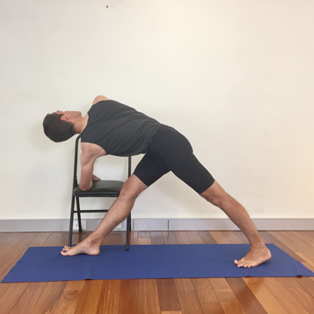Revolved Triangle One Of The 12 Yoga Vs Osteoporosis Poses For Increasing Bone Health Love This Chair Ve Iyengar Yoga Poses Yoga Poses For Men Yoga For Men