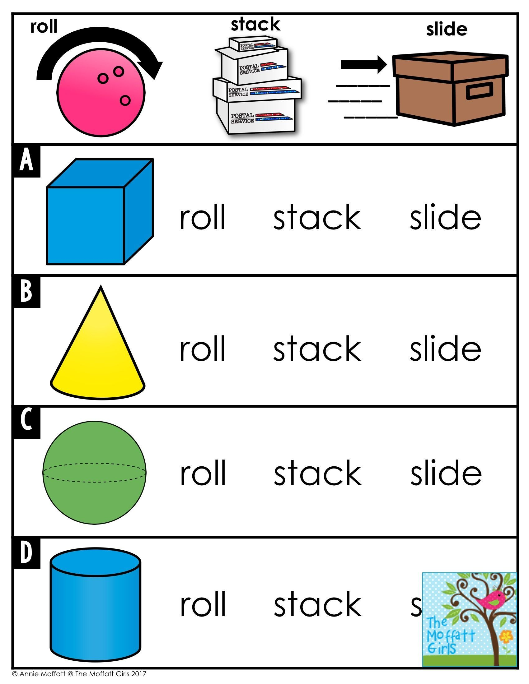 3d Shapes Worksheet Kinder   Printable Worksheets and Activities for  Teachers [ 2200 x 1700 Pixel ]