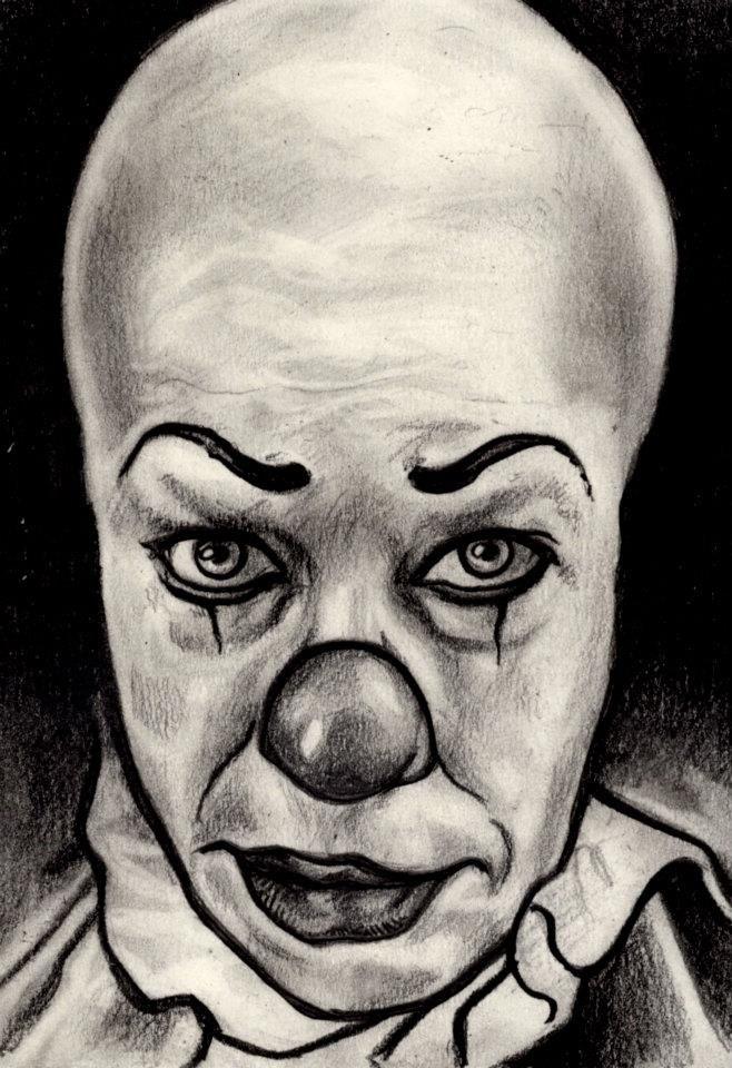 Злой клоун фото карандашом