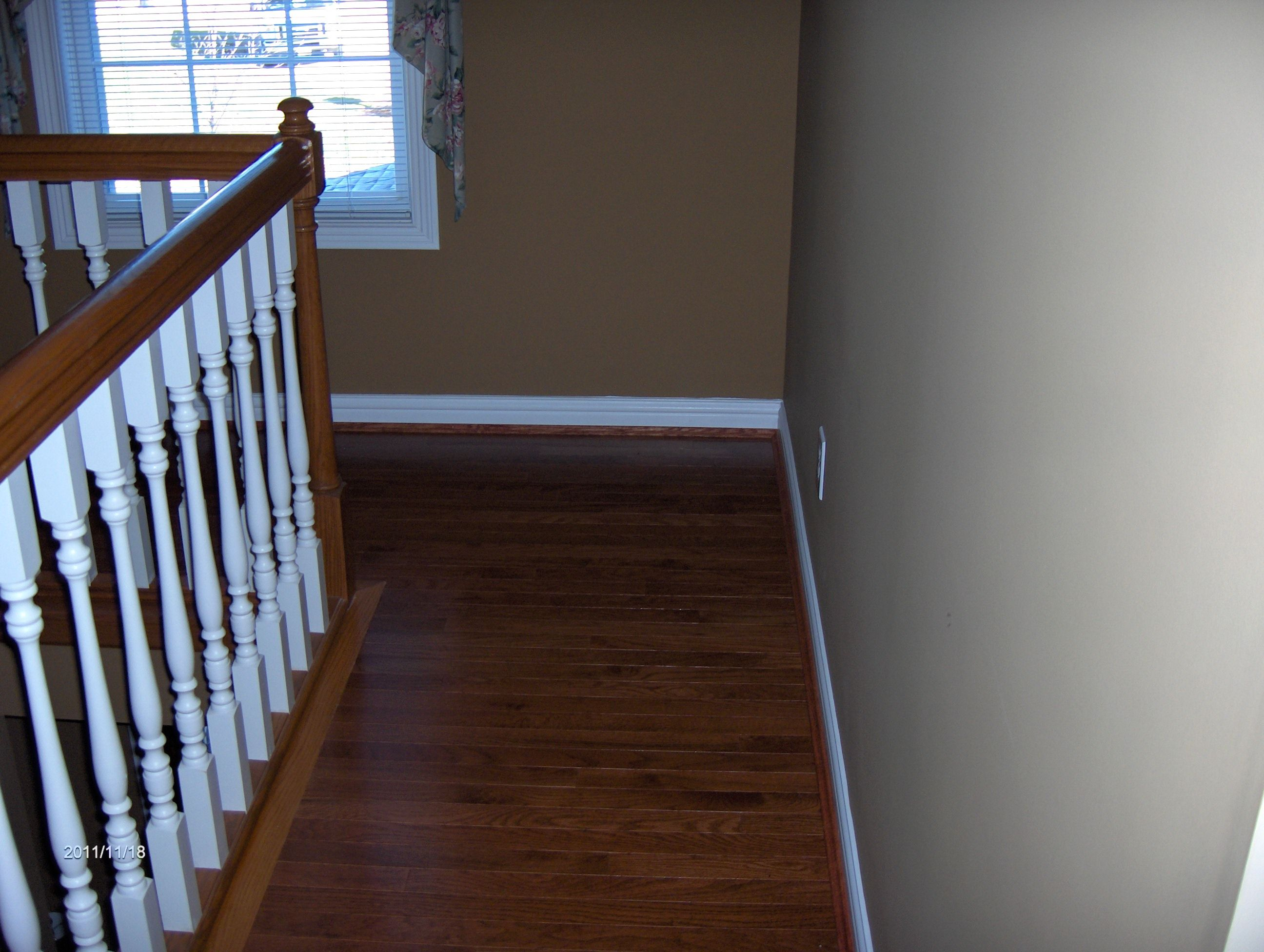 Another Shot Of The Wood Flooring Installation. Somerset Hardwood Installed  In Second Floor Hallway By