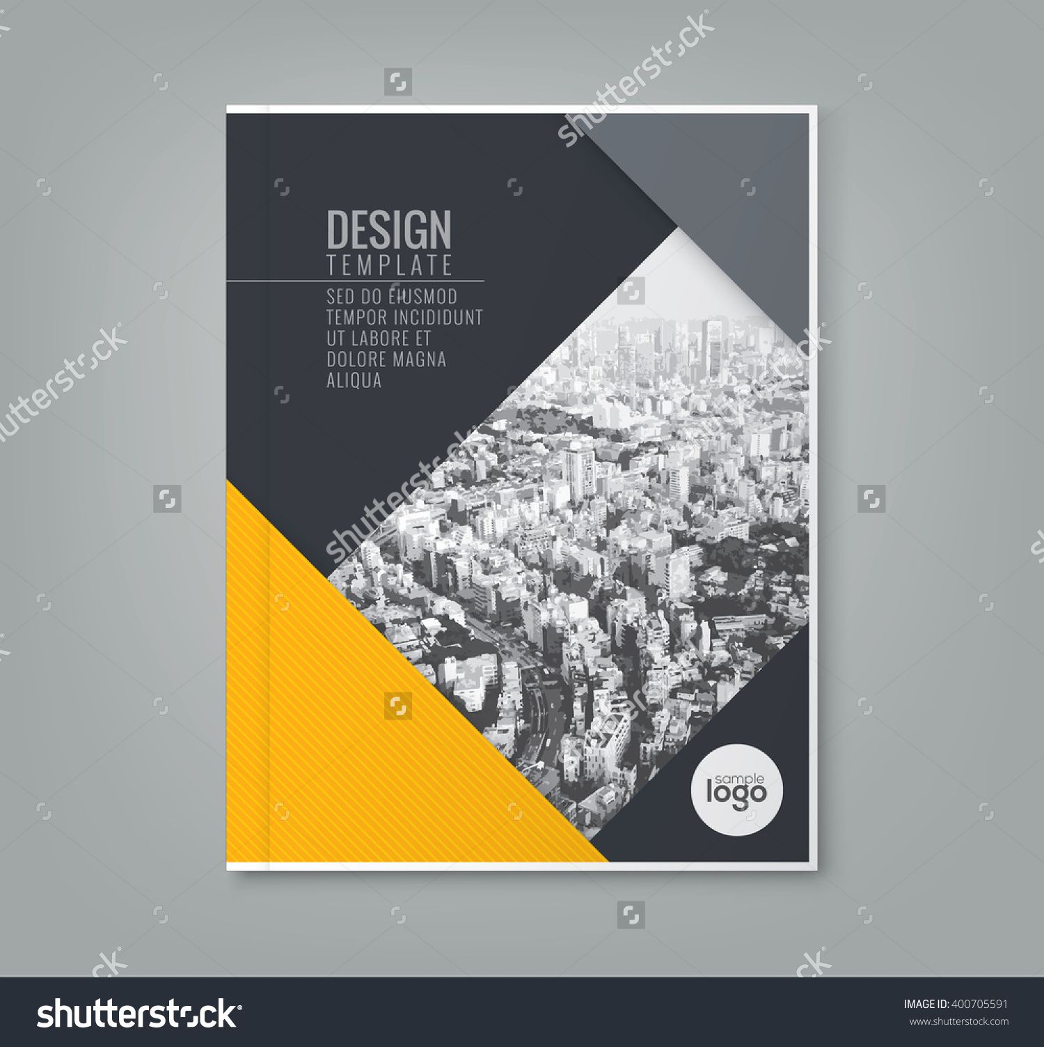 Book Cover Background Color : Minimal simple yellow color design template background for