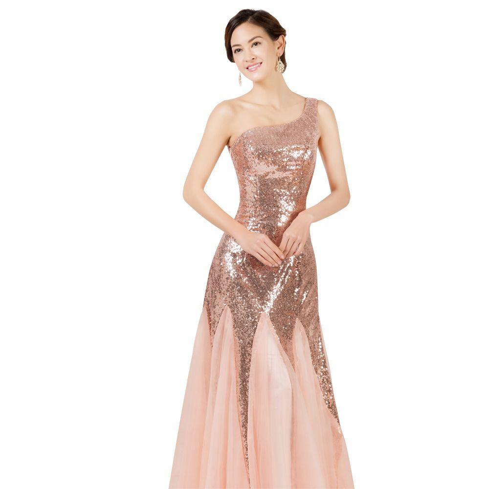 Robe de soiree longue rose pas cher