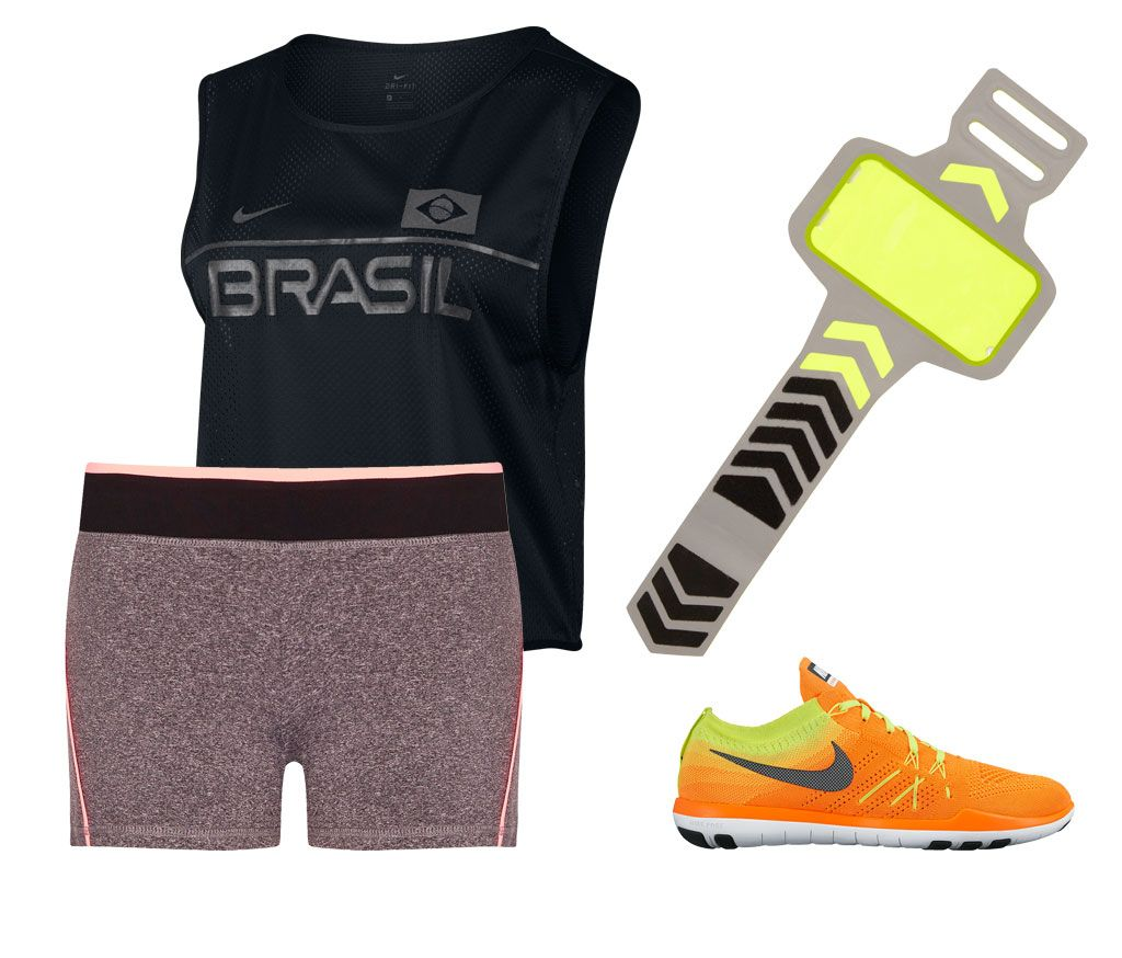 Deporte en verano, ¿qué me pongo?Workout outfits 2016. 4:Primark shoes+wide Nike t-shirt+orange Nike sneakers+Primark bracelet.
