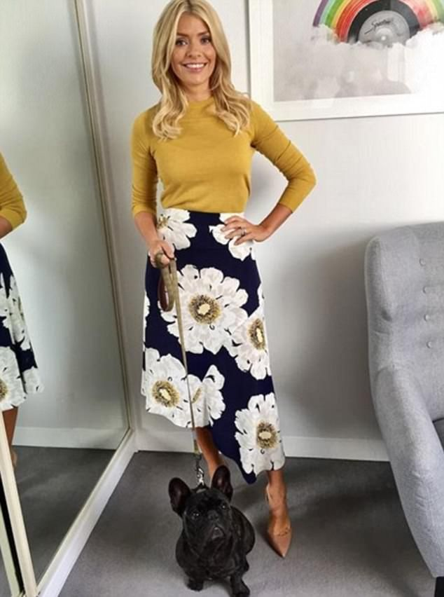 94a0f2bc7cb3a In shape: Holly Willoughby has revealed that she feels 'happy and healthy'  following her recent weight loss (pictured on Tuesday)