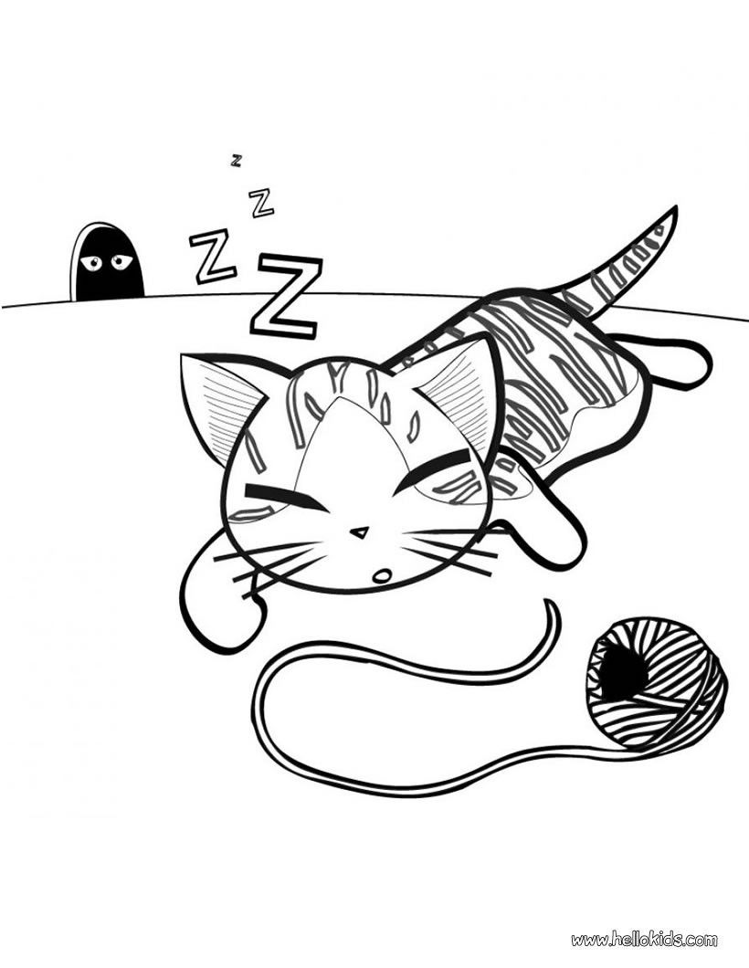 Cute kitten coloring page Cat coloring