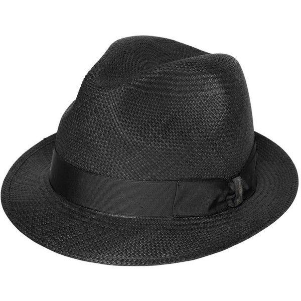 Borsalino Men Panama Straw Quito Small Brim Hat ( 250) ❤ liked on Polyvore  featuring men s fashion 22fbc2a7845