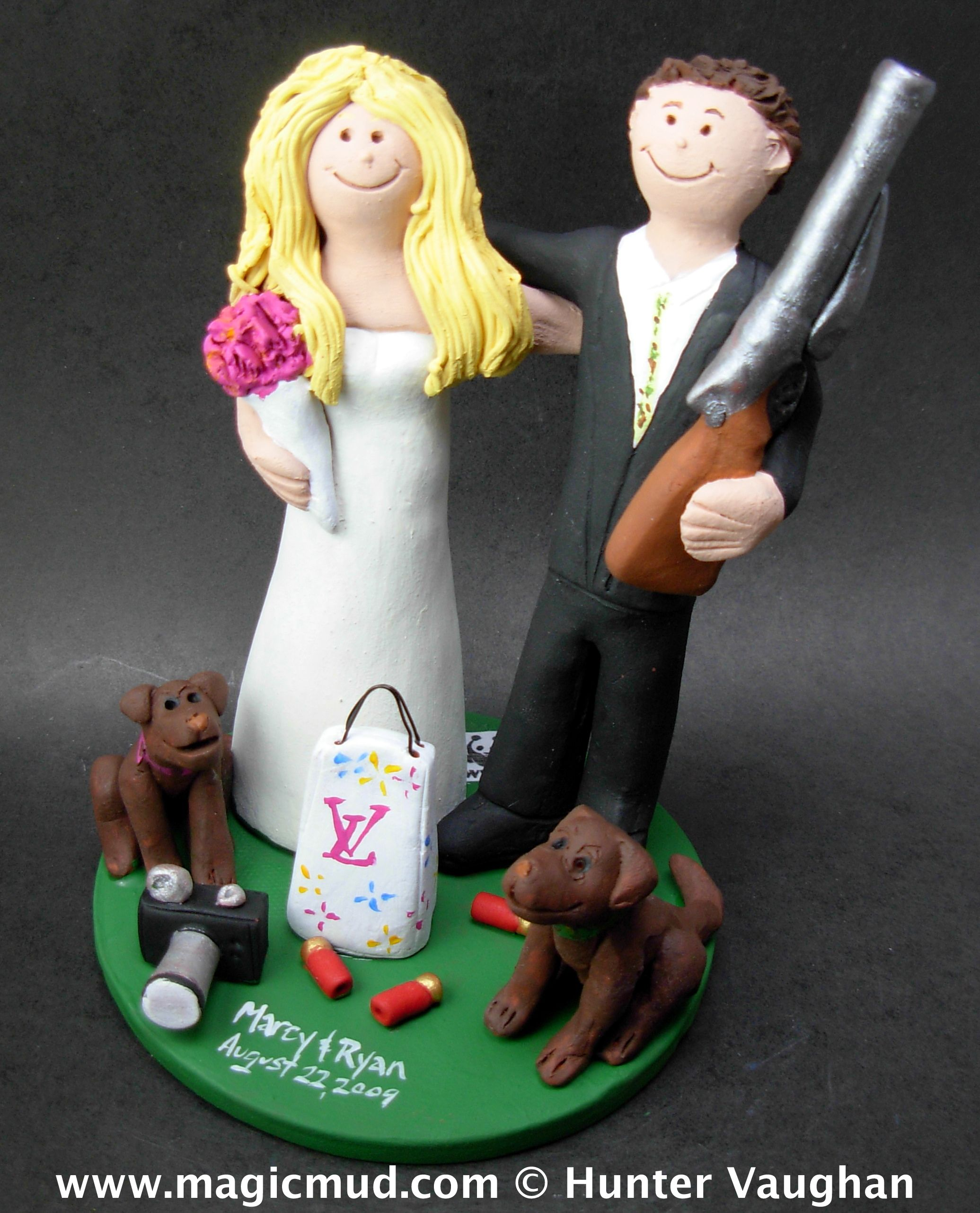 Louis Vuitton Wedding Cake Topper 1800