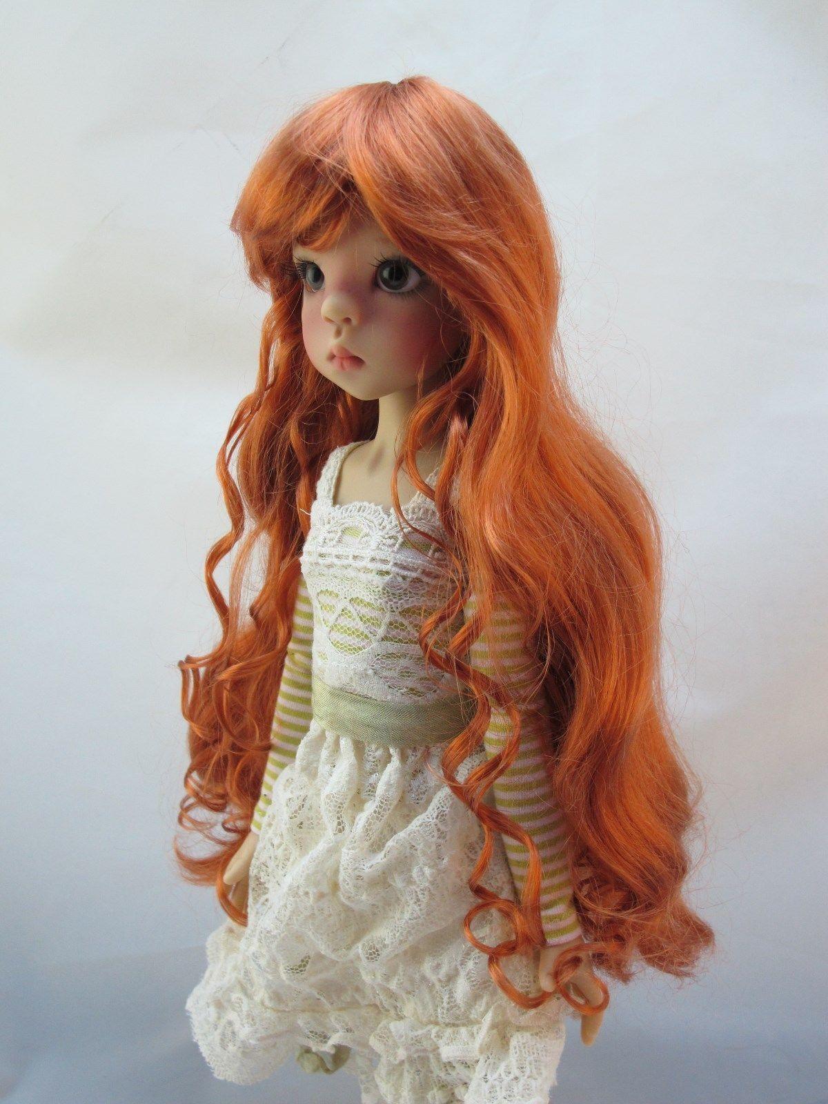 Monique VENUS Wig Carrot Red Size 8-9 shown on Mei Mei by Kaye Wiggs