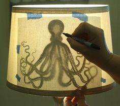 How to make a printed Lampshade