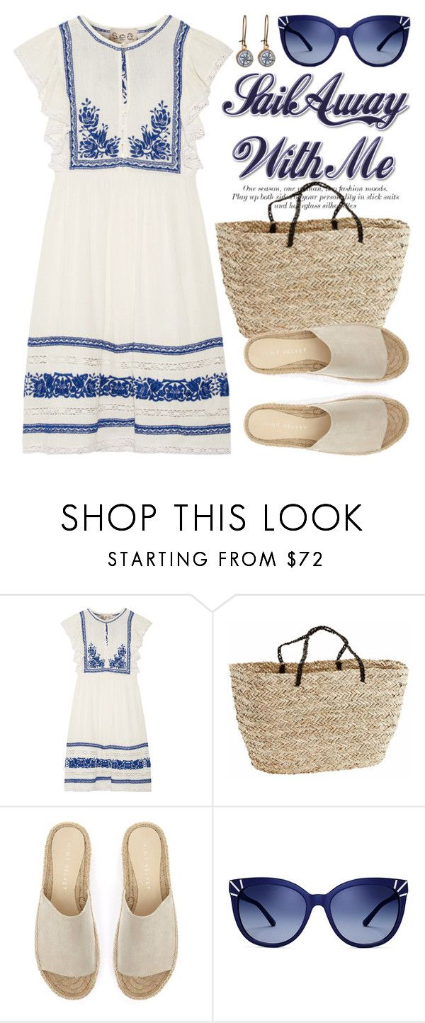 """💼 🌴🌸VACATION 🌸🌴💼 3978"" by boxthoughts ❤ liked on Polyvore featuring Sea, New York, Mint Velvet, Tory Burch and Chart Metal Works"