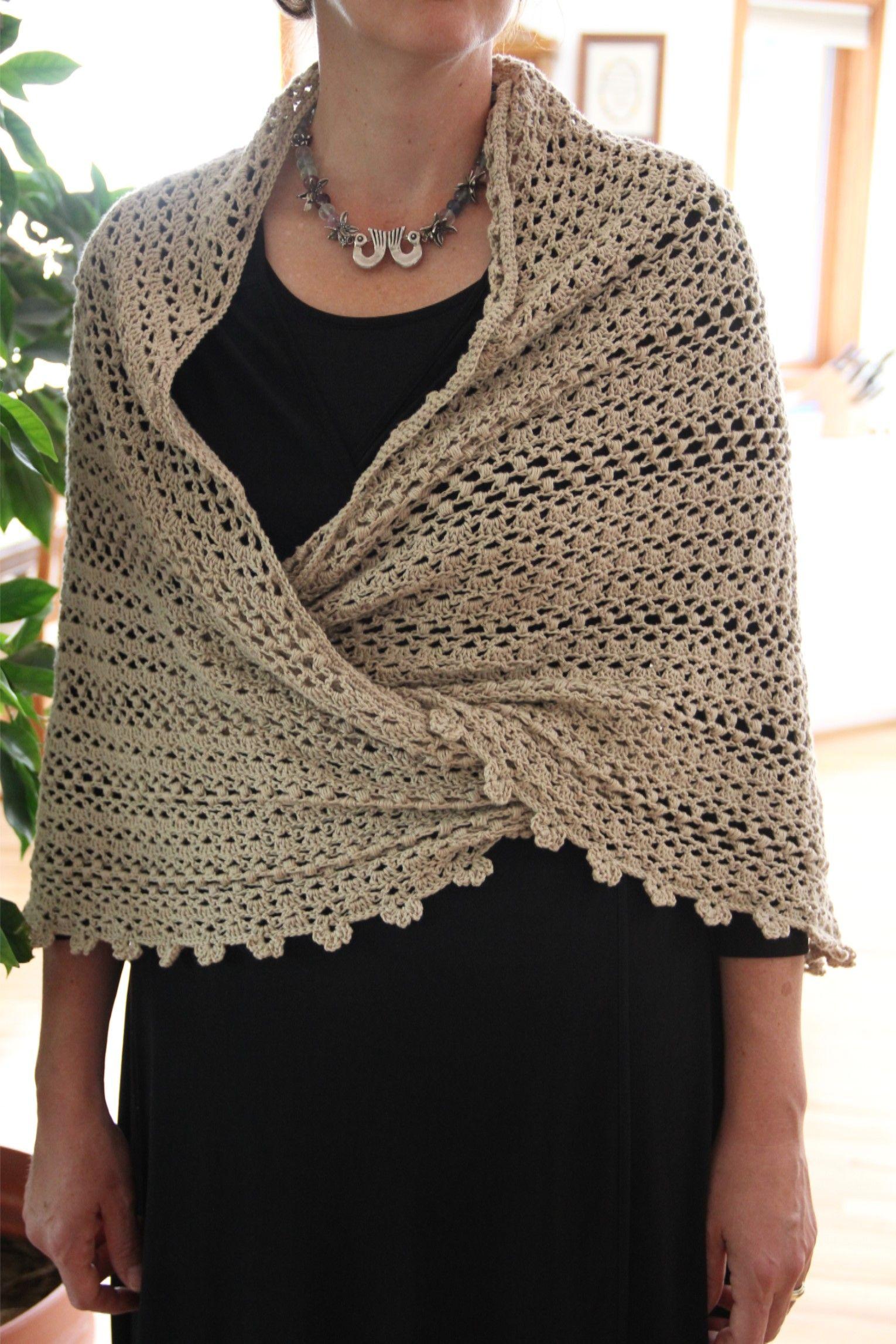 alipyper - de punto de avena soplo chal patrón libre | Crochet ...