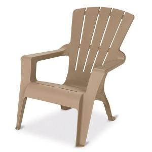 home depot adirondack chair plastic kneeling office with back support 18 us leisure patio in mushroom