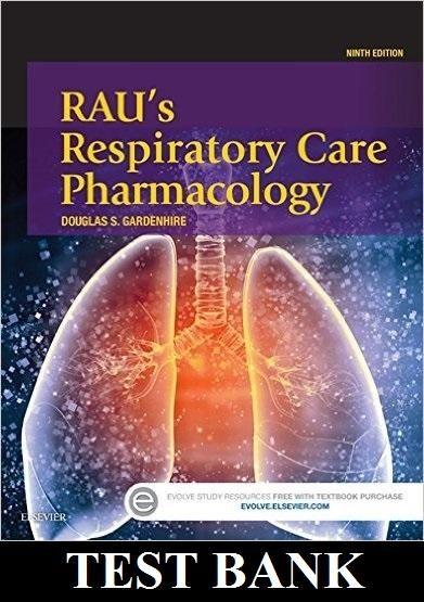 respiratory pharmacology test bank