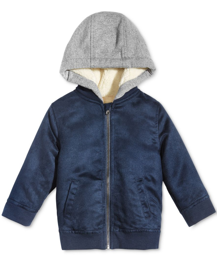 Zip Up The Snuggliest Style For His Outings With This Ultra Soft Faux Suede Bomber Jacket From First Impressions Hooded Faux Suede Bomber Jacket Bomber Jacket