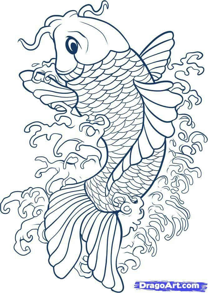 Pin by lonna rhoads on koi  Pinterest  Koi Tattoo and Fish drawings