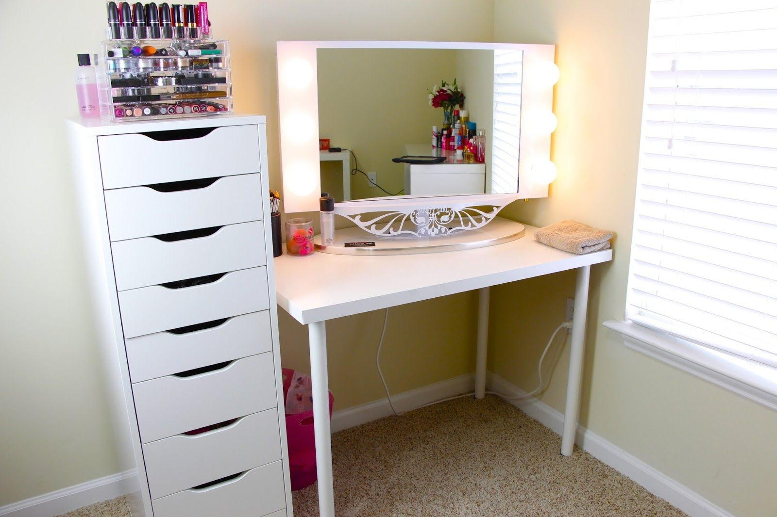 ikea alex 5 drawer idea Makeup Studio Diy makeup