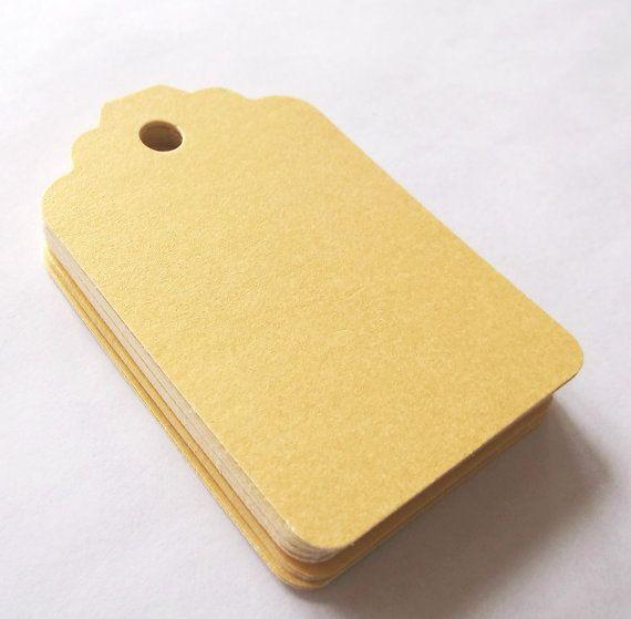 Tag regalo metallico dell'oro oro luccicante di GiftsNThisNThat