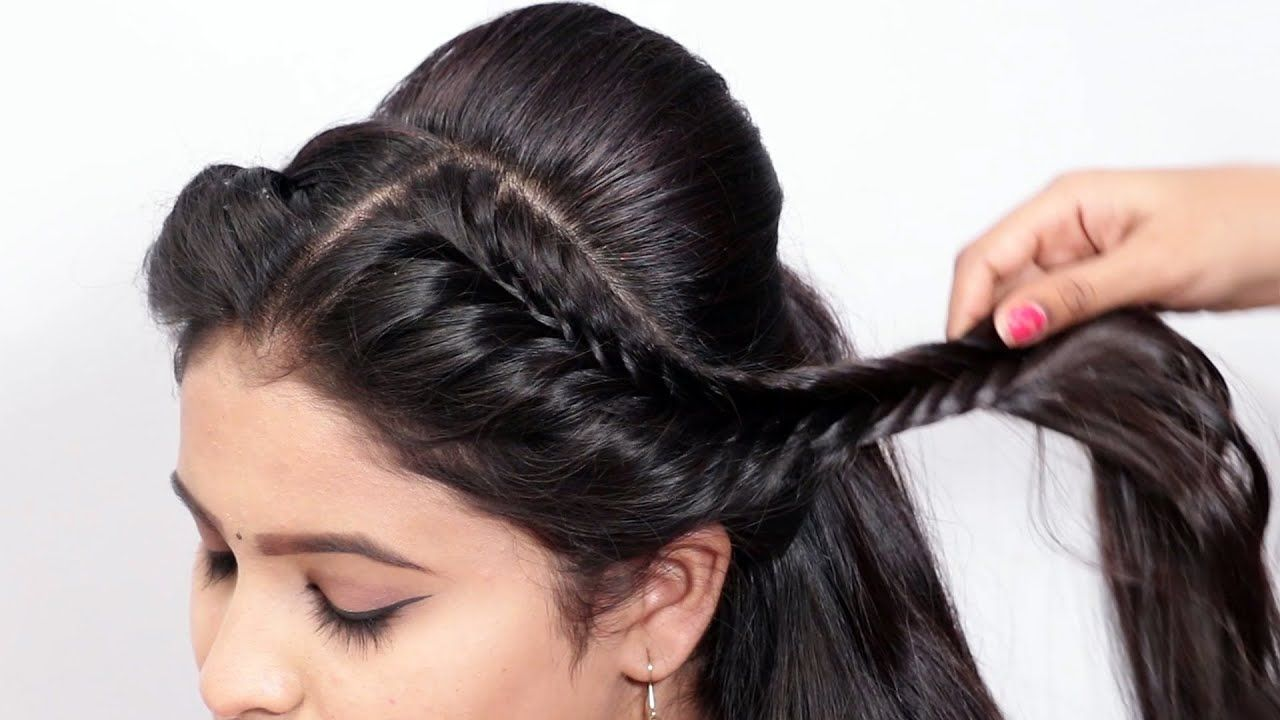 New Amazing Wedding Hairstyle with Easy Trick | Party Hairstyle/Function... in 2020 | Party ...