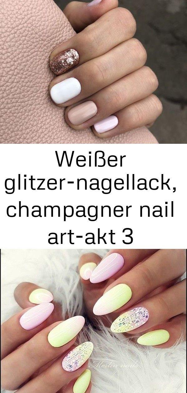 Glitzer Nägel mit Traumfänger-Stamping Nageldesign