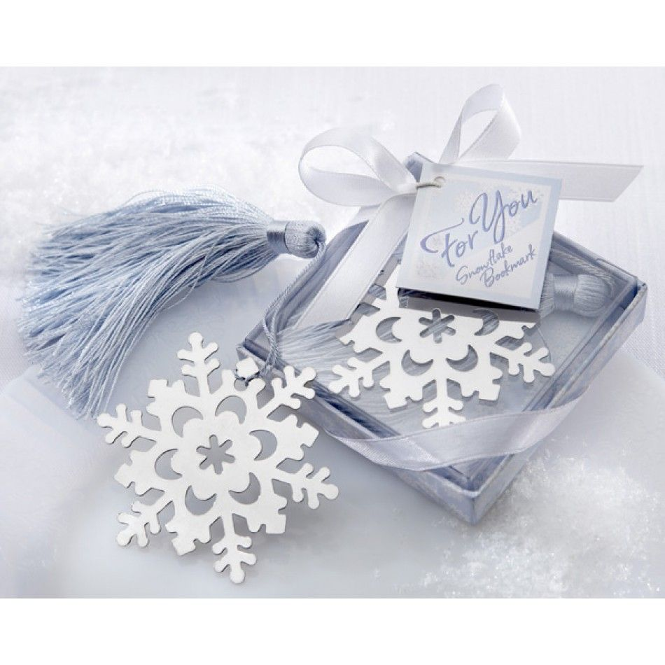 Snowflake Bookmark with Silver Finish and Elegant Ice-Blue Tassel ...