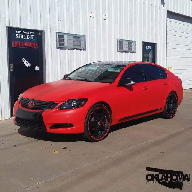 Used Lexus In Nj: This Lexus Wrap Is HOT In 3M 1080 Matte Red. Installed By