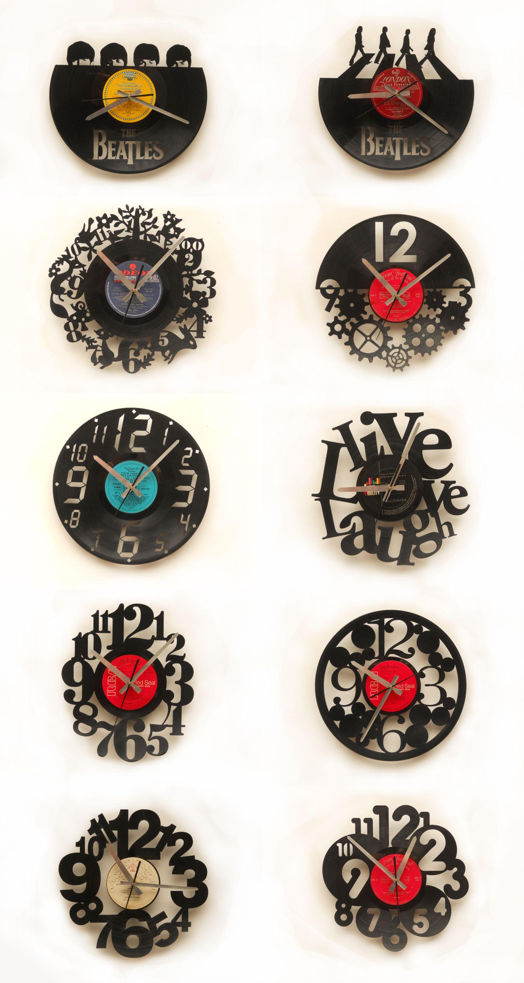 Relojes corte l ser sobre discos de vin lo laser cutting - Relojes de vinilo ...