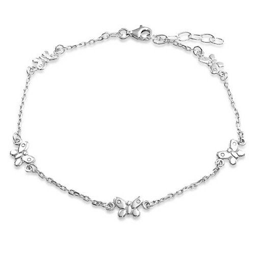 Bling Jewelry 925 Sterling Silver Rolo Chain Ankle Bracelet Butterfly Anklet Bling Jewelry Http Silver Ankle Bracelet Sterling Silver Anklet Ankle Bracelets
