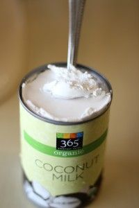 Coconut milk : multi-purpose hair conditioner : 2 cups organic* pure coconut milk; 1/4 cup organic* aloe vera juice; 1/4-1/3 cup organic* honey; 10 drops organic* rosemary essential oil; 10 drops organic* lavender essential oil you can add glycerin and Vit. E oil, or whatever oils are available}