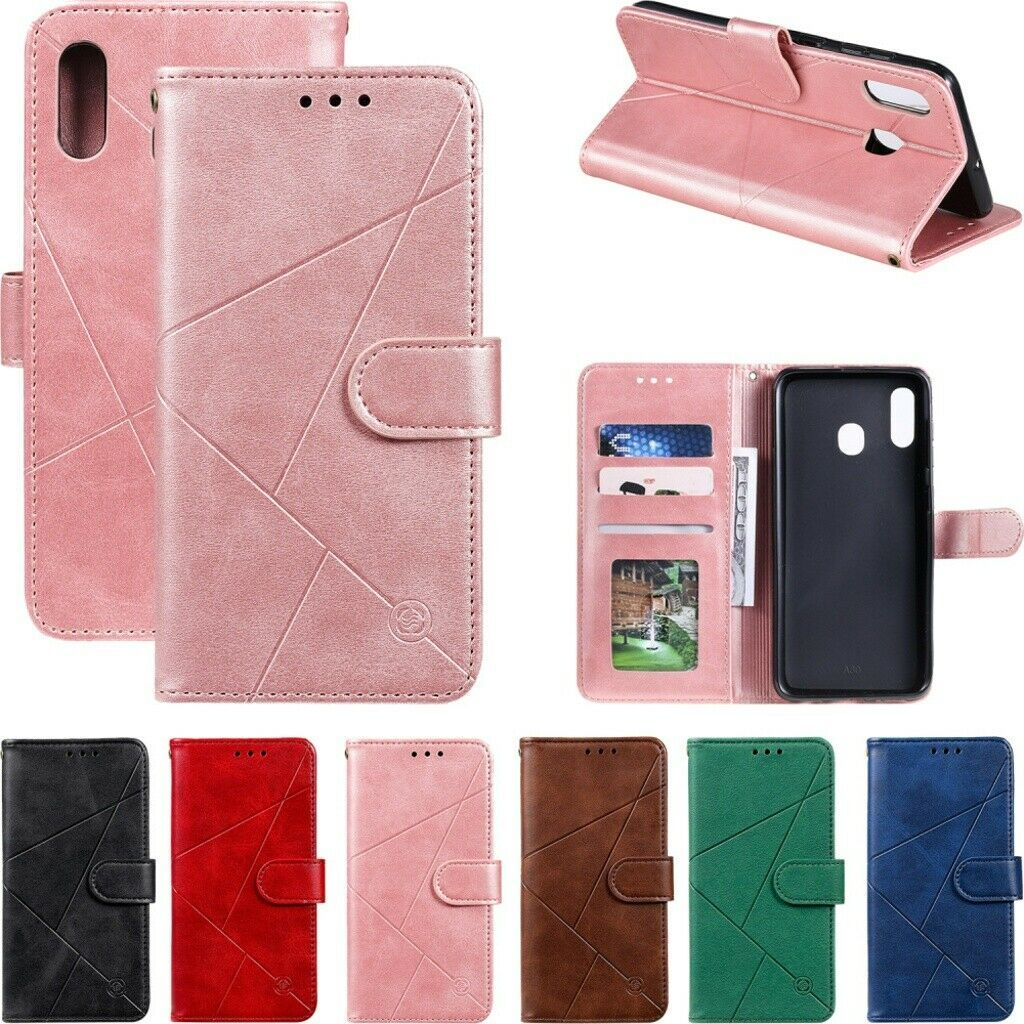 Fr Samsung Galaxy A10e/A20e/A40/A50/A70 Magnetic Leather Wallet Stand Case Cover  - Samsung Galaxy a