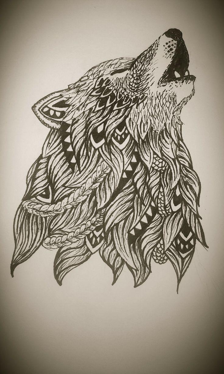 wolf zentangle google zentangle doodle pinterest zentangle and tattoo. Black Bedroom Furniture Sets. Home Design Ideas