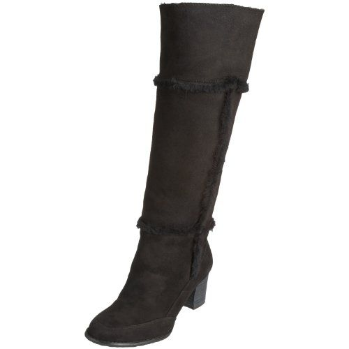 Rockport Womens Gerti Welt High Shearling Suede Fur Trimmed Boot