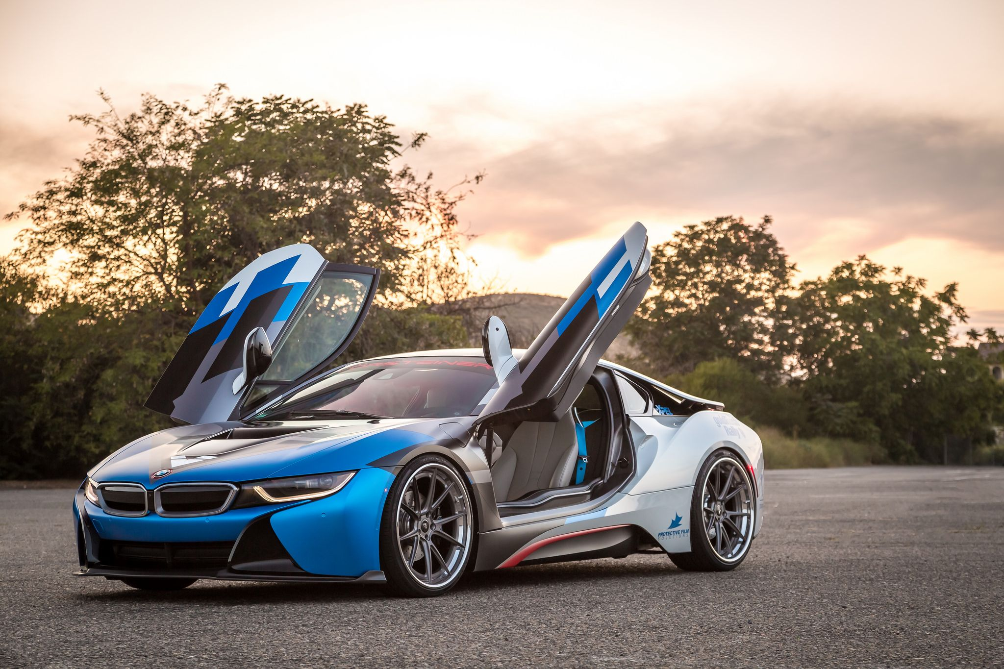 Bmw I8 Coupe Edrive Vorsteiner Tuning Electric Burn Blue