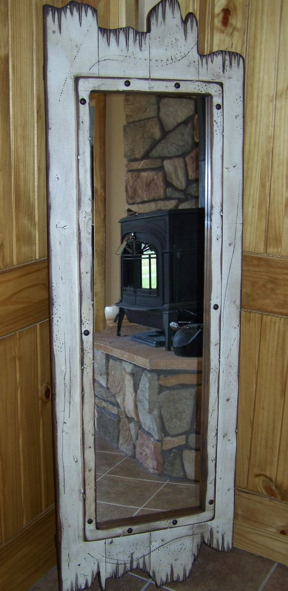 60x22 full-Length red barn wood mirror. Great for any dressing room ...