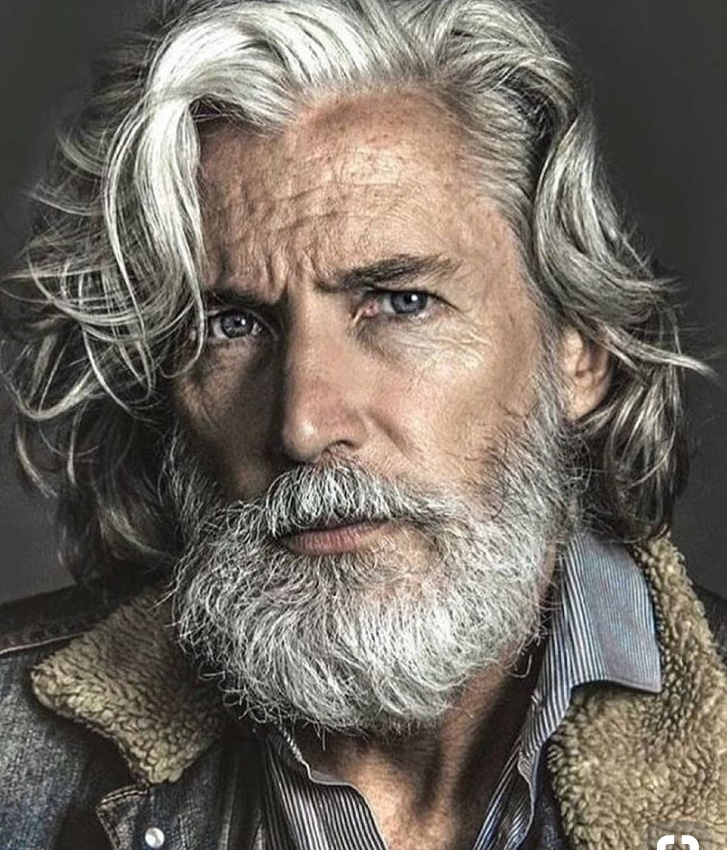 Grey beard older mens hairstyles grey beards handsome