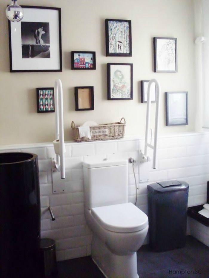 Decorar con cuadros hasta en el baño baños Pinterest Ideas
