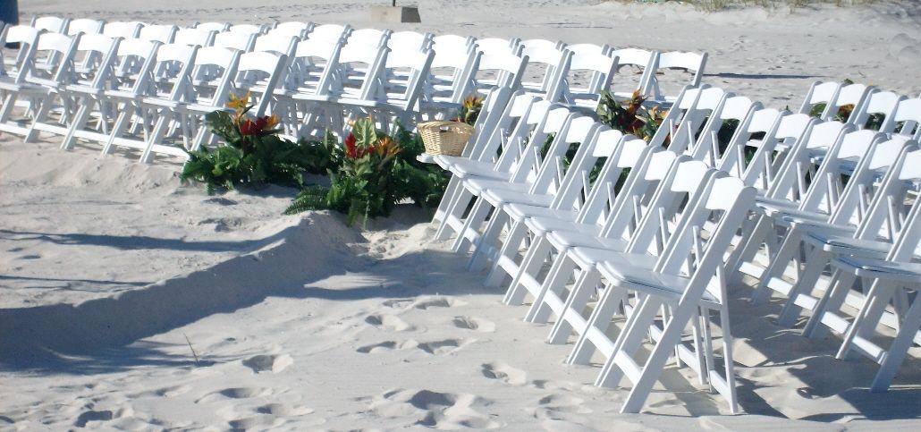 White Beach Wedding Chairs 8 Chair