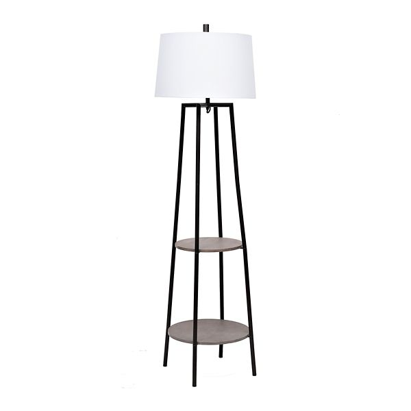 Freemont 2 Tier Shelf Floor Lamp (With