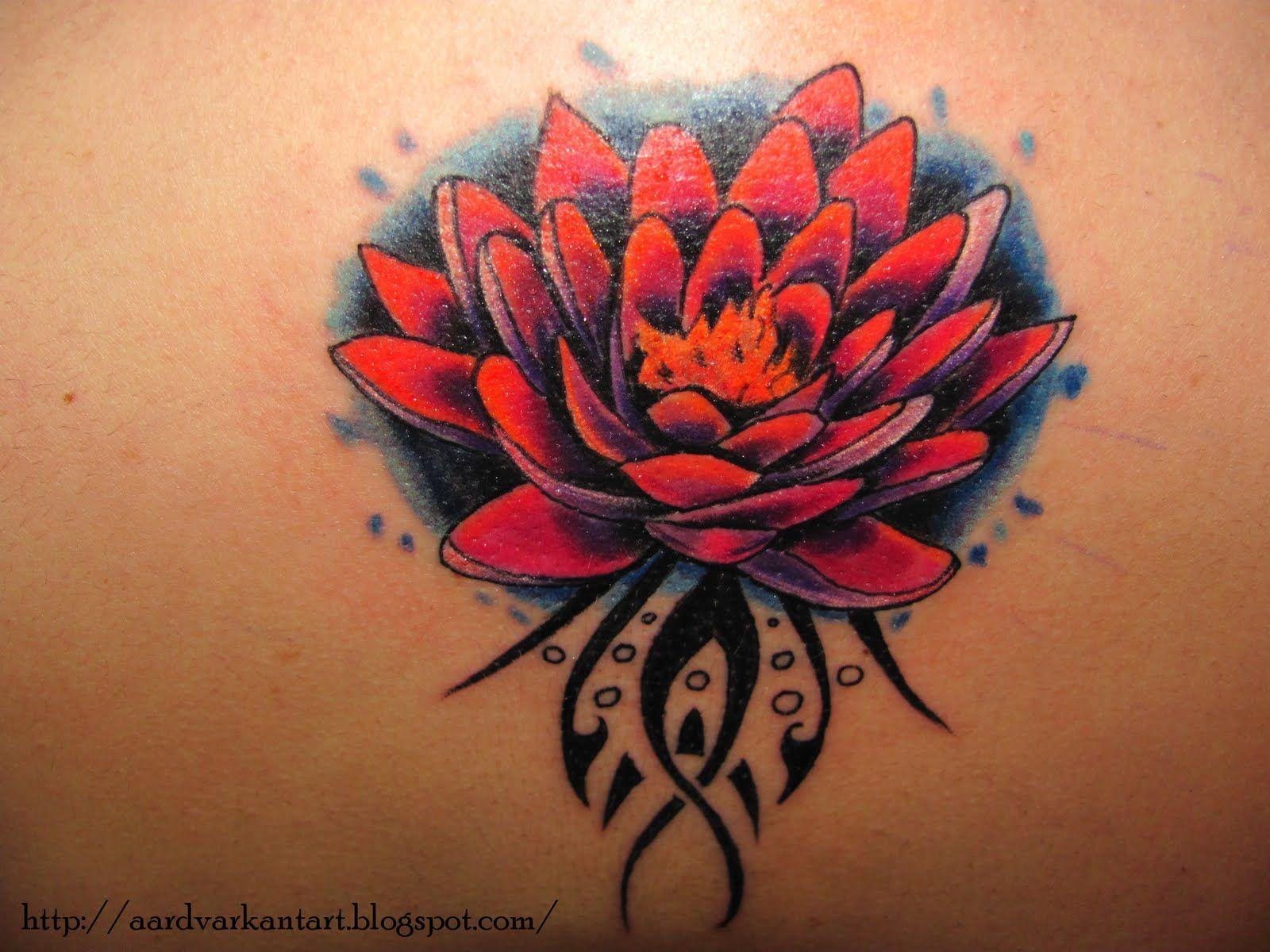 tattoos | Tribal Red Lotus Flower Tattoos Designs | Tattoos ...