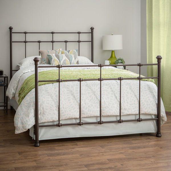 Brown Metal Bed Frame Vintage Rustic Antique Style Bedroom