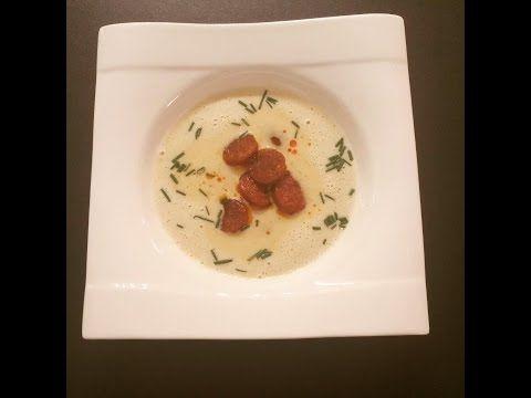 Knoblauch-Creme-Suppe vegetarisch und mit Fleisch - YouTube