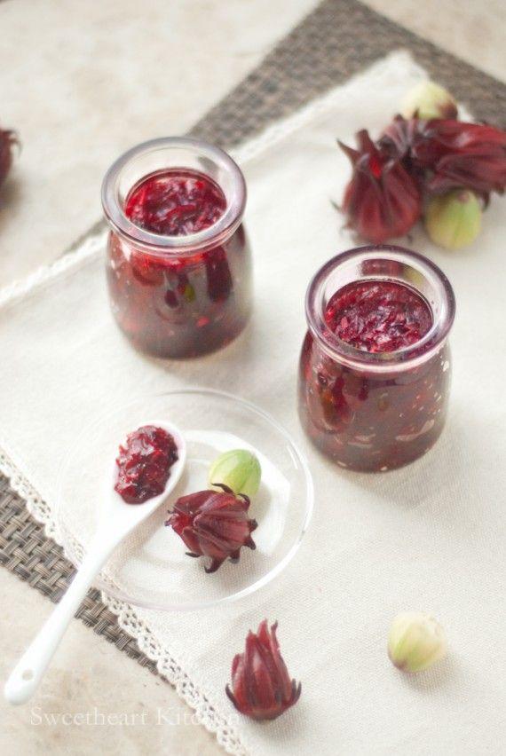 洛神花果醬 Roselle Jam食譜 甜琛廚房 Recipe Roselle Jam Condiment Recipes Hibiscus Recipe