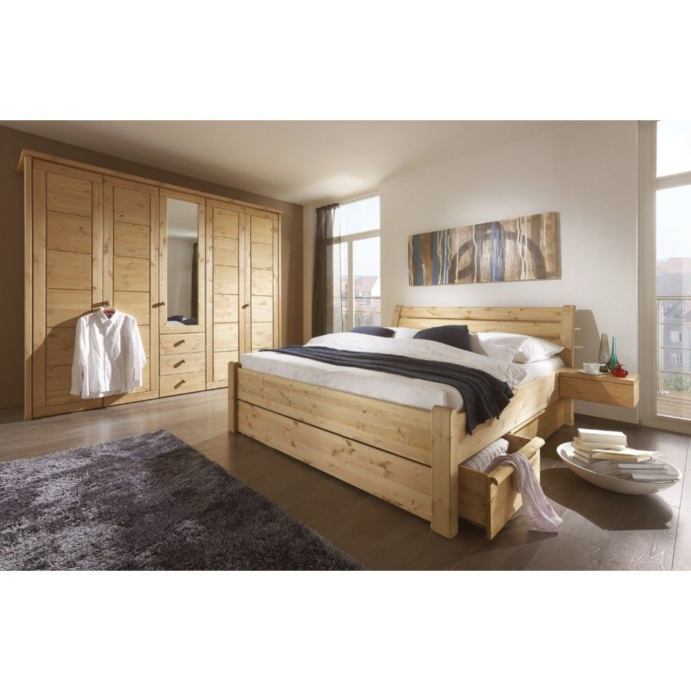 Chambre adulte complete pin massif chambre pinterest for Chambre complete adulte en pin massif