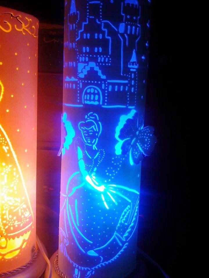 Luminaria Infantil Cinderela Com Imagens Artesanato De Tubo De