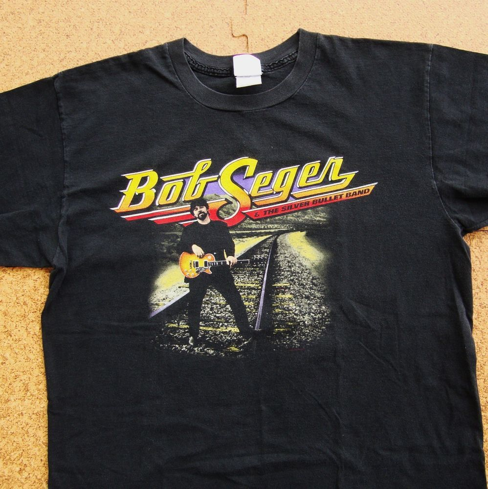 c4da94f6a27e VTG 90s Bob Seger Silver Bullet Band T Shirt ROCK & ROLL NEVER FORGETS  Concert #Winterland #GraphicbasicteeConcertTourRock