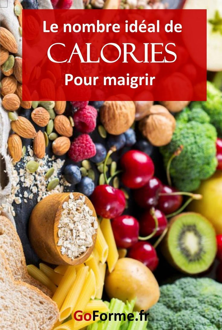 Calcul calories : Combien de calories par jour pour