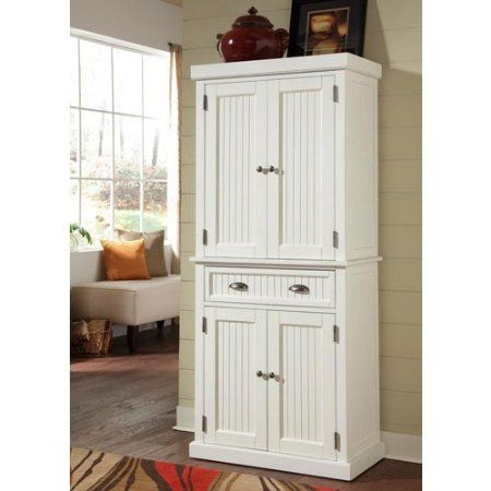 Home Styles 5022 69 Nantucket Pantry Distressed White Finish Kitchen