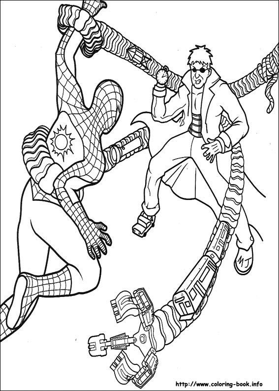 image result for spiderman pictures to color