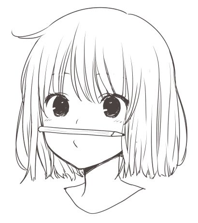 Anime girl sketch when ever I do that it always falls off
