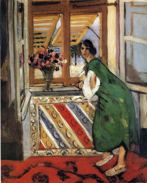 Henri Matisse, Young girl in a green dress, 1921 on ArtStack #henri-matisse #art