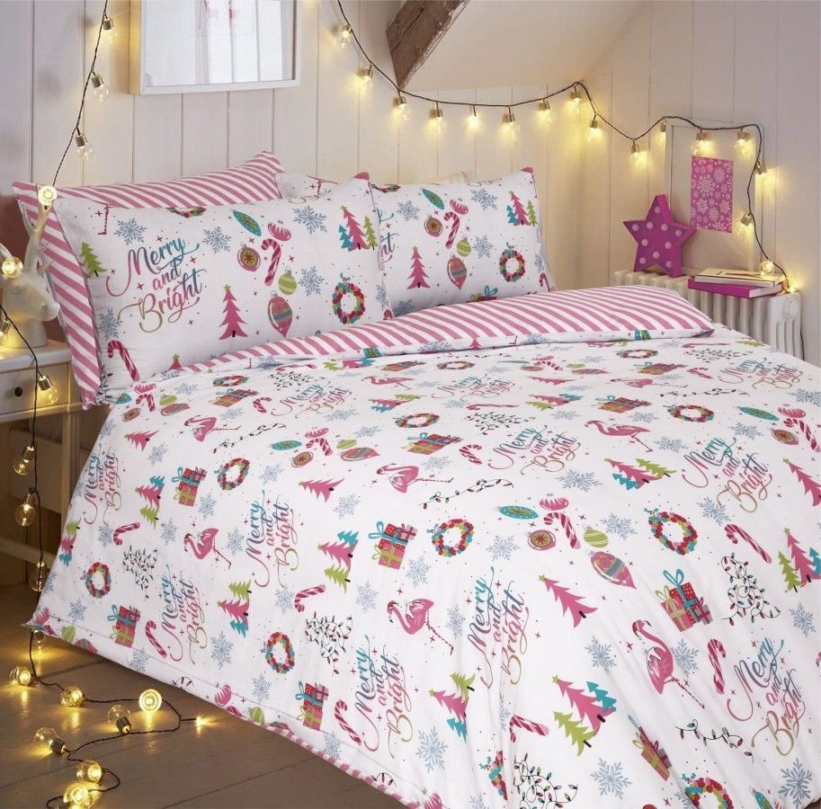 Phoebe Floral Duvet Cover Set Double Size Reversible Bedding with Pillowcases Quilted Bedroom Set
